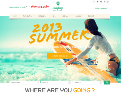 Noo Travel - Responsive Joomla 3 Travel Template