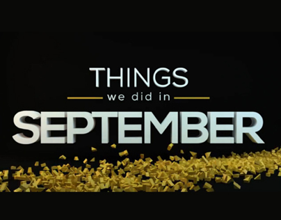 Things we did in September