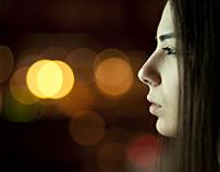 Fairy lights portraits