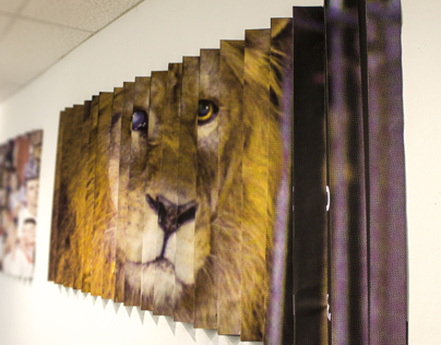 Caged: Lenticular Poster Series