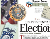 NIE page designs: 2008 Election series