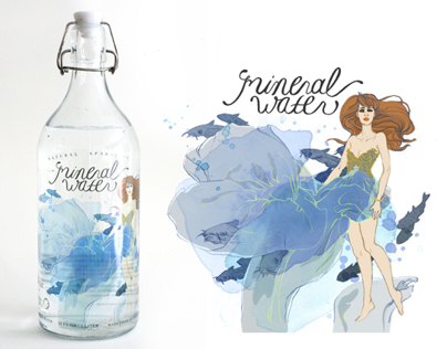 Mineral Water High Fashion Campaign