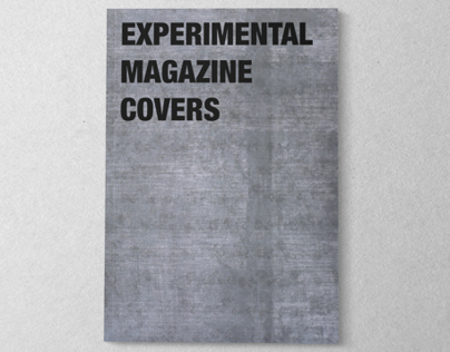 Experimental magazine covers