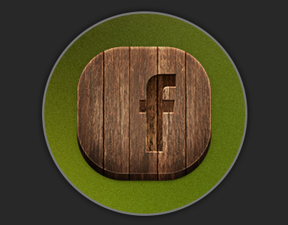 Wooden icon for IOS