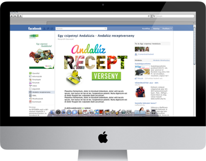 Recipe Competition Facebook App Design
