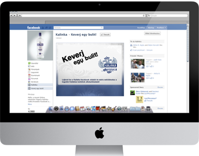 Kalinka Facebook App Design