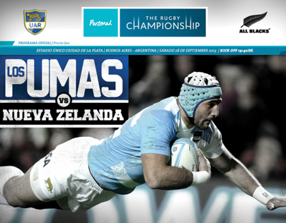 Programa Los Pumas vs All Blacks - Rugby Championship