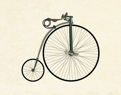 Penny-farthing Bicycle Print