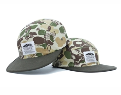 Filter017 Land Of Lost Camo 5 Panel Camp Cap