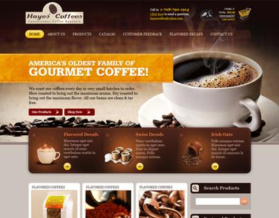 Hayes Coffees Website Design