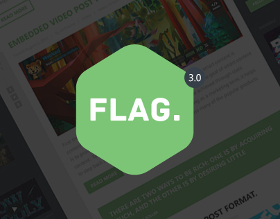 Flag. - Clean and Modern Template