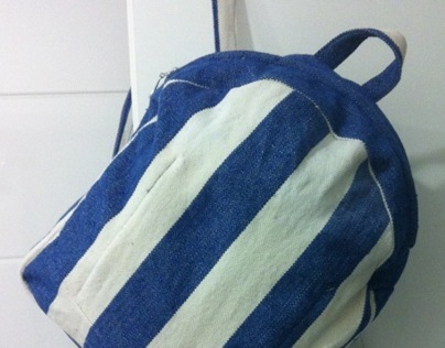 Backpack- reused material