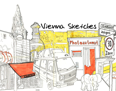 6 months in Viena. Urban sketch