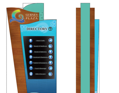 Environmental Design- 3D mock up of Directory Board