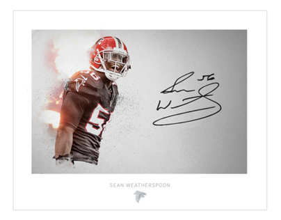 Atlanta Falcons Autograph Art
