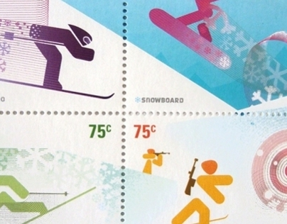 Winter Sports Postage Stamps