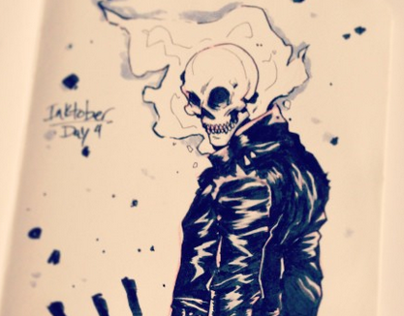 Inktober Day 4: Ghost Rider
