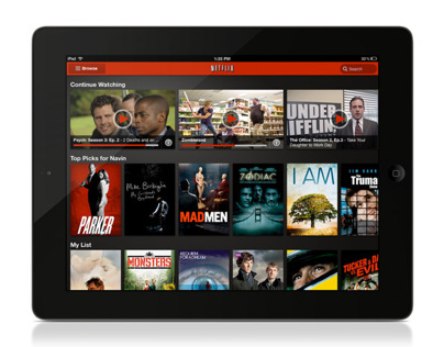 Netflix iPad UI Evolution