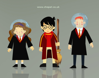 Harry Potter cartoon's characters
