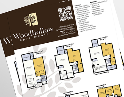 Woodhollow Apartments Print Marketing Collateral