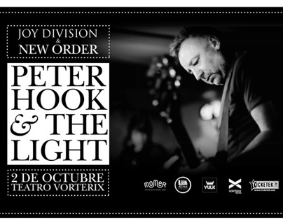 Peter Hook & The Light - Teatro Vorterix | Diseño+Foto