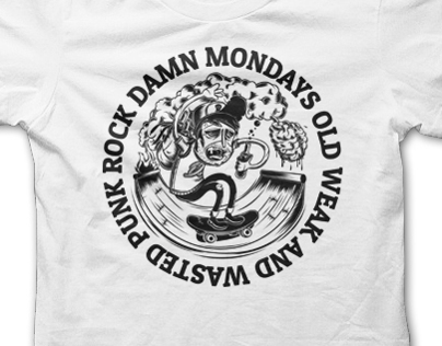 Damn Mondays Shirt Design