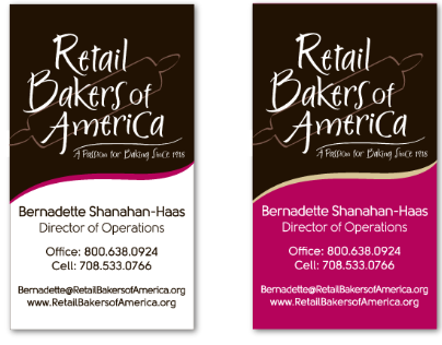 Retail Bakers of America Business Cards