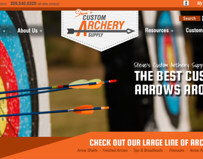 Custom Archery Supply Website