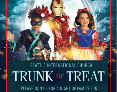 Church flyer for Halloween Party
