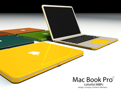 Mac Book Pro c - Colorful mbp concept