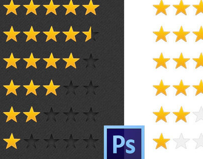 Freebie PSD: Stars for review and rating