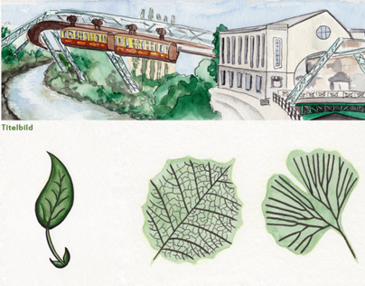 Illustrations for a tree trail in Wuppertal