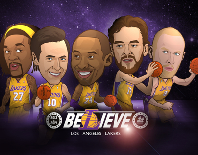 Los Angle Lakers Illustrator