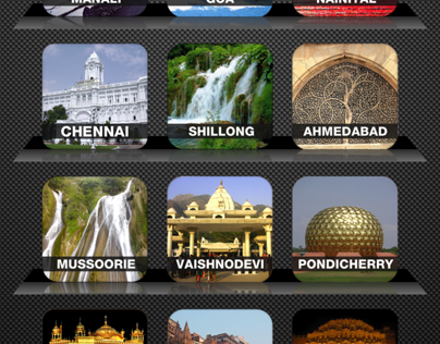 City Guides Home Screen Design