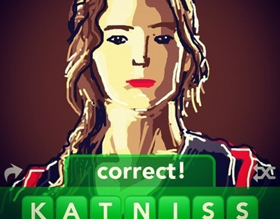 Katniss Draw Something Illustration 2012