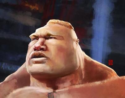 BROCK LESNAR Caricature