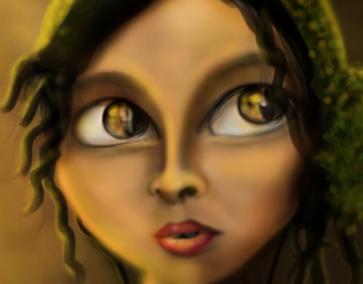 The young Lady | Digital painiting