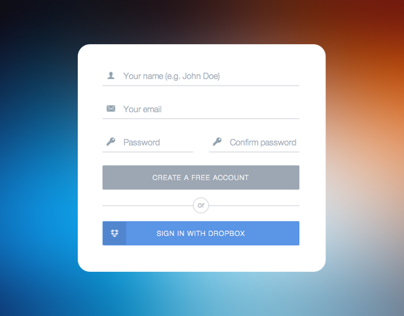 Flat UI: Sign Up Form