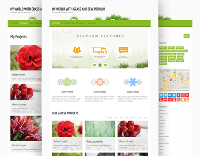 My World with grass and dew Premium Wordpress Theme