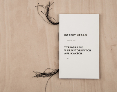 Typography in spatial applications – book design