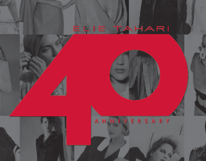 Elie Tahari -40th anniversary logo and creative assets