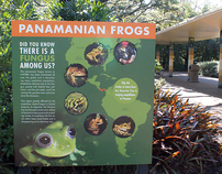 Panamanian Frog Interactive Sign