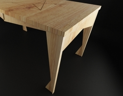 wooden Workspace Table (Industrial design)