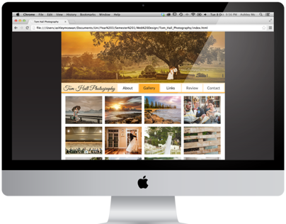 Tom Hall Photography Website Redesign