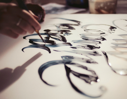 Calligraphy backstage