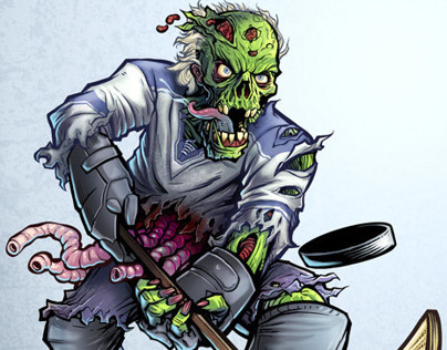 Lethal Threat Zombie Hockey Player