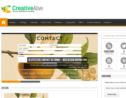 Creative Alive Blog Design | creativealive.com