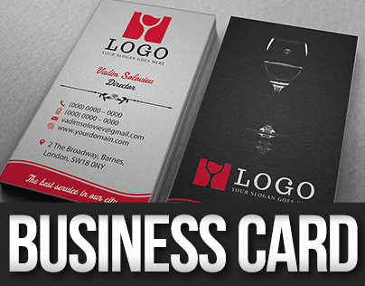 Wine Restaurant Business Card
