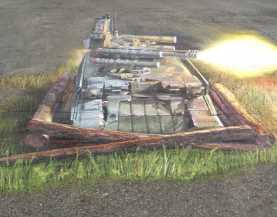 3D-graffiti for RUSSIAN ARMS EXPO 2013