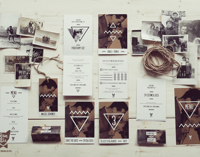 Wedding Stationery Image with Bogart / Brown